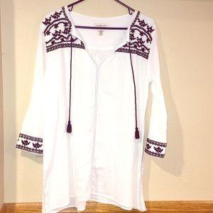 Ralph Lauren Denim &Supply Embroidered Gauze Tunic